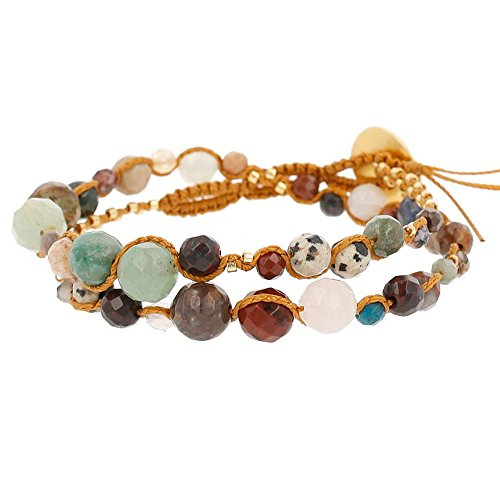 Chan Luu Double Wrap Toggle Bracelet (Multi)