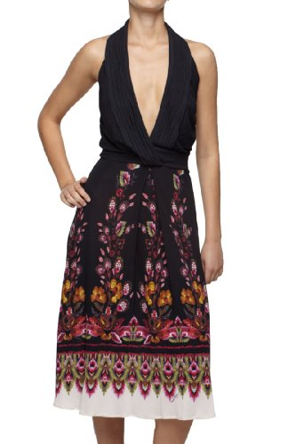 Roberto Cavalli - Floral Dress Multicolor, 40, Multicolor