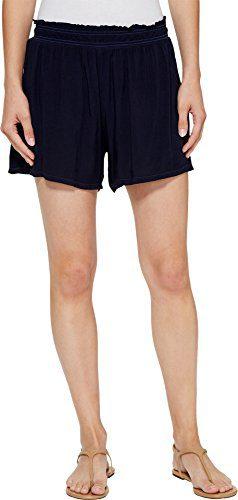 Michael Stars Women's Modern Rayon Elastic Waistband Shorts Nocturnal Shorts