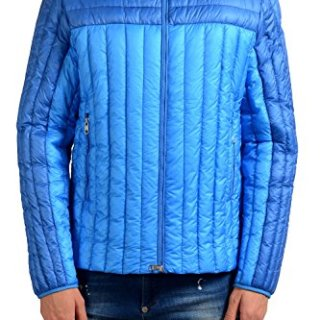 Moncler Men's Blue Full Zip Down Light Parka Jacket Size 3 US L;