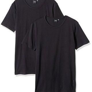 Hugo Boss BOSS Men's T-Shirt Rn 2p Co/El, Black, X-Large