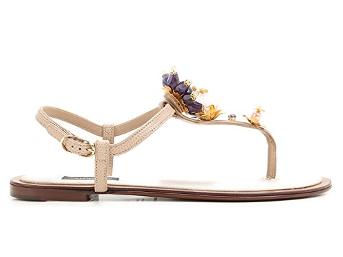 Dolce e Gabbana Women's Beige Leather Sandals