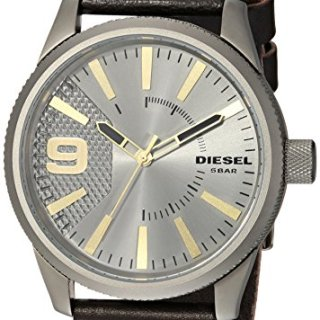 Diesel Men's RASP Gunmetal Ip and Brown Leather Watch DZ1843