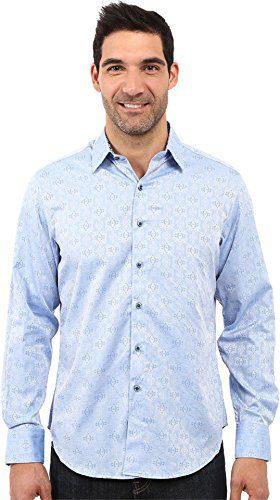 Robert Graham Men's Cullen Sport Shirt Light Blue Shirt