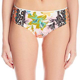 Nanette Lepore Women's Hipster Bikini Swimsuit Bottom, Multi/Copa, Medium