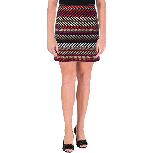 Trina Turk Women's Rico Kingscote Stripe Textured Woven Mini Skirt, Multi, 2