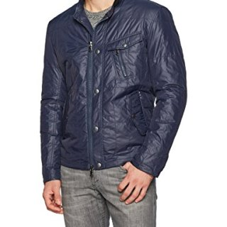 John Varvatos Men's Quilted Racer Jacket , Night Sky, Large