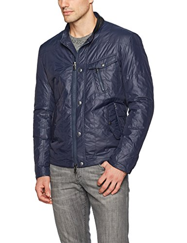 John Varvatos Men's Quilted Racer Jacket , Night Sky, Large