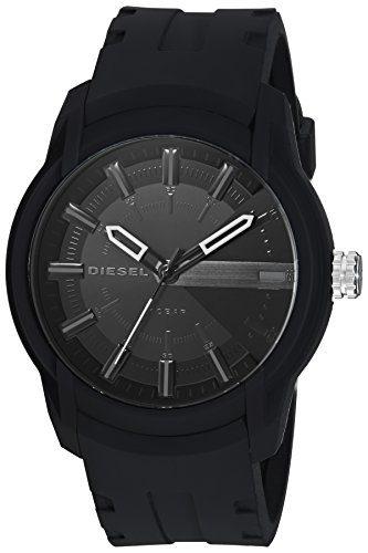 Diesel Men's Armbar Silicone Casual Watch, Color Black (Model: DZ1830)