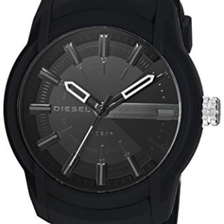 Diesel Men's Armbar Silicone Casual Watch, Color Black (Model: DZ1830)