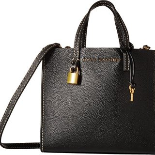 Marc Jacobs Women's Mini Grind Tote, Black/Gold, One Size