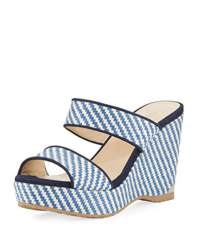 JIMMY CHOO Parker Striped 100mm Wedge Sandals 38.5