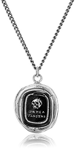 Pyrrha Talisman Men's Sterling Silver Skull Pendant Necklace, 22""