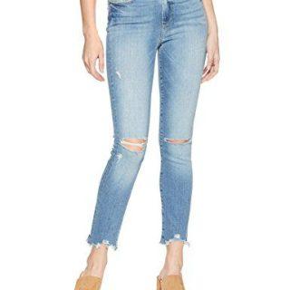 PAIGE Women's Hoxton Ankle Peg Jeans, Janis Destructed Worn in Hem, 28