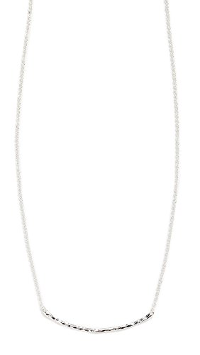 Gorjana Women's Taner Bar Necklace, Silver, One Size