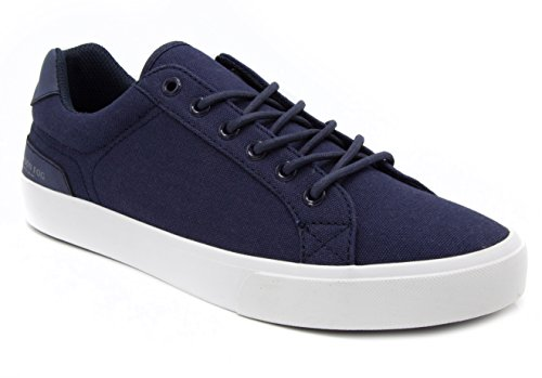 London Fog Mens Bayswater Canvas Sneaker Navy 11