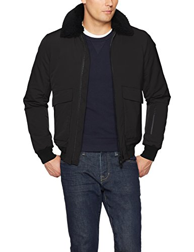 J.Lindeberg Men's Stretch Pilot Jacket, Black, Medium