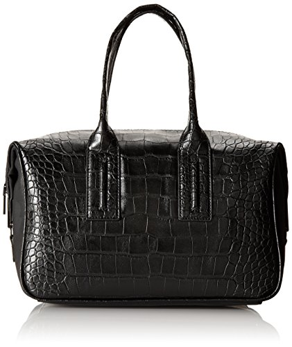 French Connection Shes A Lady Satchel, Black Crocodile, One Size
