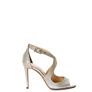 JIMMY CHOO Women's Emily Silver Leather Sandals