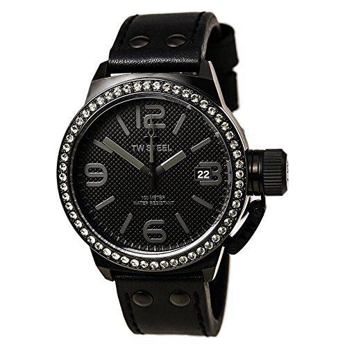 TW Steel Canteen 45mm Black Dial Black PVD Unisex Watch TW912