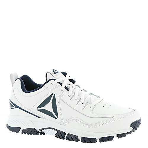 52a6bb794a Reebok Men's Ridgerider Leather Sneaker, White/Coll. Navy-Wide e, 12 ...