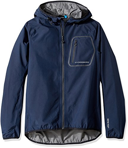 J.Lindeberg Men's M Paclite Hood Jacket, JL Navy, XXL