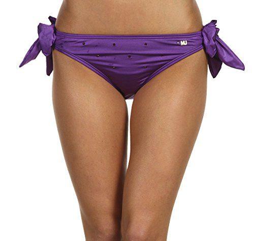 Marc Jacobs Sweet Pea Purple Crystal Bikini Maillot Bathing Swimsuit Bottom Small