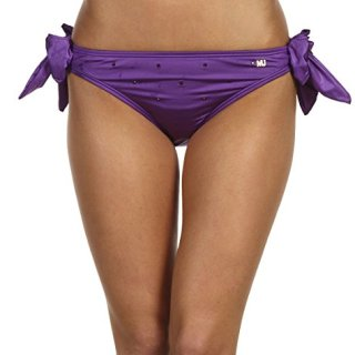 Marc Jacobs Sweet Pea Purple Crystal Bikini Maillot Bathing Swimsuit Bottom Small