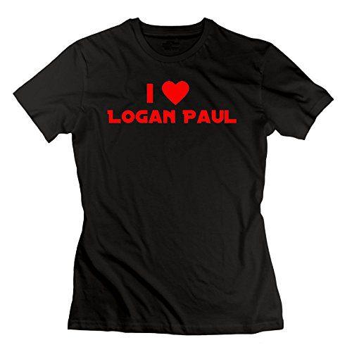 Women's I Love Logan Paul T-Shirt Cotton Short Sleeve M Black