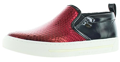 Marc by Marc Jacobs Women's Broome Sneakers Shoes Red Size 9