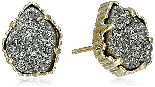 """Kendra Scott""""Signature"""" Tessa Gold plated Platinum Drusy Stud Earrings"""