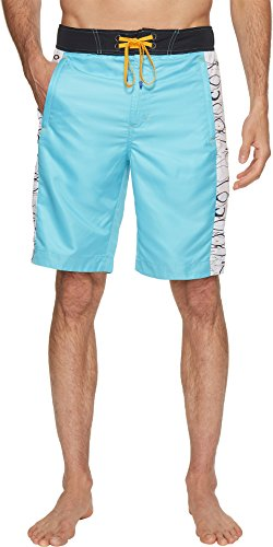 Robert Graham Men's Maili Woven Swimtrunks, Aqua, 38