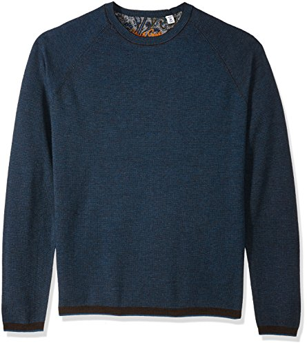 Robert Graham Men's Ray Brook Long Sleeve Knit, Chocolate, Large