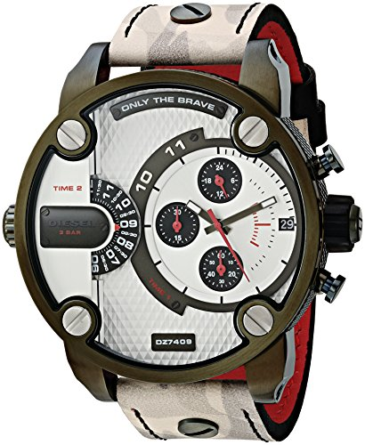 Diesel Men's 'Little Daddy' Quartz Stainless Steel and Leather Casual WatchMulti Color (Model: DZ7409)