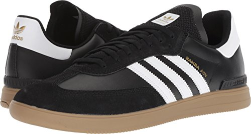 adidas Skateboarding Men's Samba ADV Black/White/Gum 4 10 D US