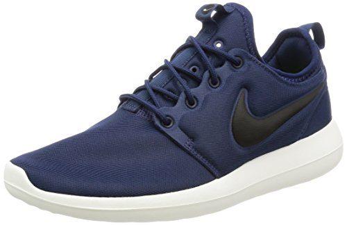 Nike Men's Roshe Two 2 Lifestyle Running Sneakers Midnight Navy/Sail/Volt/Black (10.5)