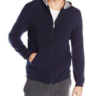 Hugo Boss Men's Mix and Match Jacket Hooded, Dark Blue, Medium