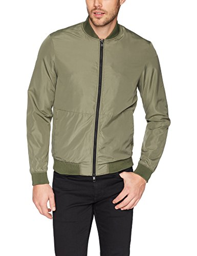 J.Lindeberg Men's Nylon Bomber Jacket, Beetle, Medium