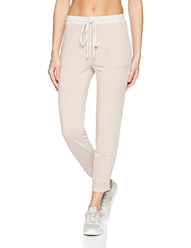Michael Stars Women's Color Block Elevated French Terry Drawstring Pant, Rose/Perla, XS
