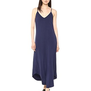 Michael Stars Women's Rylie Rayon Front-to-Back Maxi Dress, Passport, Small