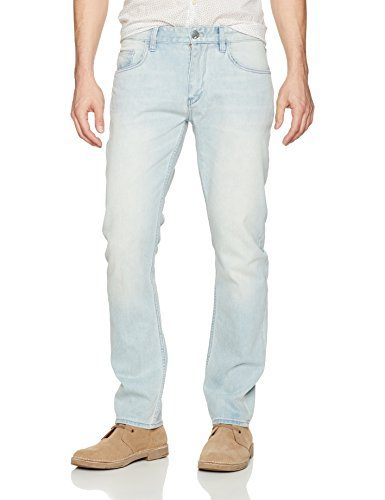Robert Graham Men's McFly Tailored Denim Pant, Light Indigo, 38