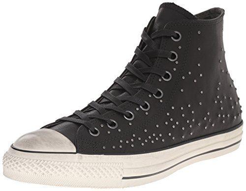 Converse by John Varvatos Unisex Chuck Taylor All Star Studded Black Sneaker Men's 7, Women's 9 Medium