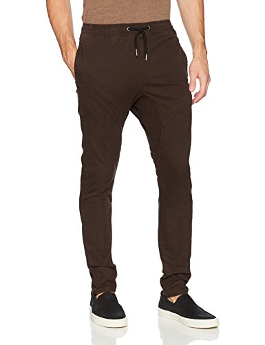 Zanerobe Men's Signature Stretch Fabric Tapered Fit Salerno Chino Pants, Coffee, 30