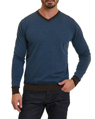 Robert Graham Halfmoon Sweater Classic Fit Blue XLarge