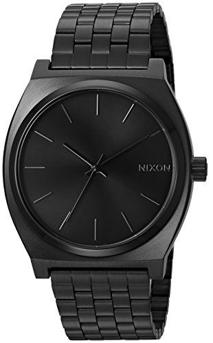 Nixon Time Teller A045. Black Women's Watch (37mm. Black Metal Band/Black Watch Face)