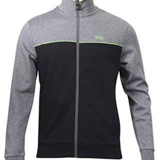 Hugo Boss Green Men's Skaz US Cotton Track Jacket Cotton Blend Black (Medium)