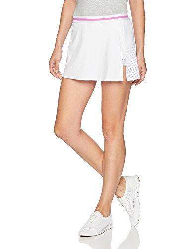 Trina Turk Recreation Women's Side Zip Sports Skirt, White, Extra Small