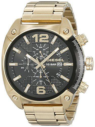 Diesel Men's Overflow Gold Watch