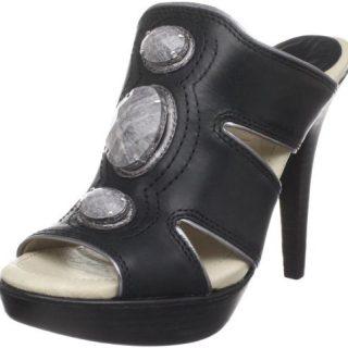 House of Harlow Women's Cassidie Platform Sandal, Black/Graphite, 9 M US