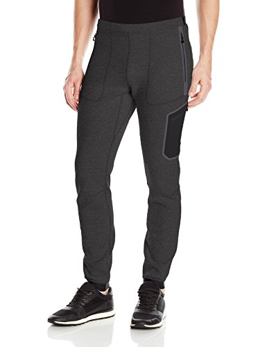 J.Lindeberg Men's M Athletic Pants Tech Sweat, Dk Grey Melange, XL